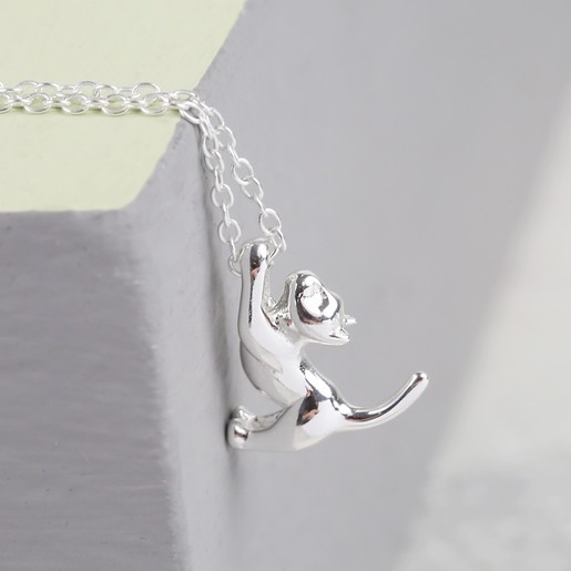 Delicate Sterling Silver Cat Necklace Jewellery Lisa Angel