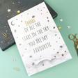 Personalised Vinyl Lisa Angel Ladies' Starry Nights 'Of All The Stars' A5 Notebook