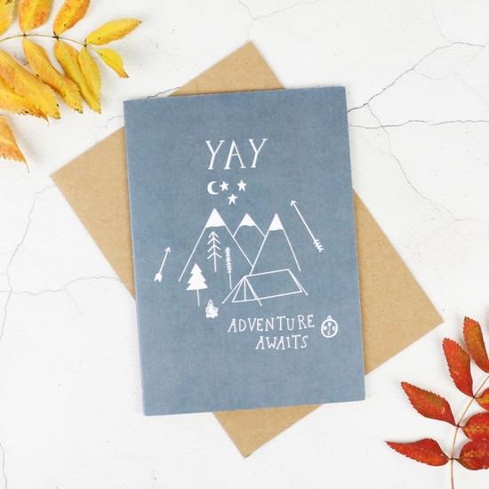 'Adventure Awaits' Greetings Card