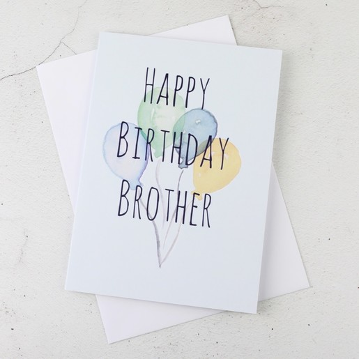 Happy birthday brother greetings card stationery lisa angel happy birthday brother birthday balloons greetings card m4hsunfo