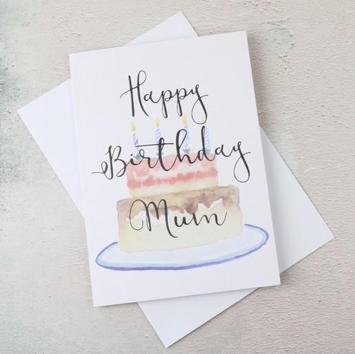 Lisa Angel Ladies Happy Birthday Mum Cake Greetings Card