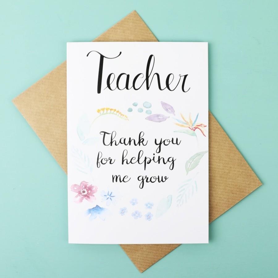 Thank You For Helping Me Grow Greetings Card Lisa Angel