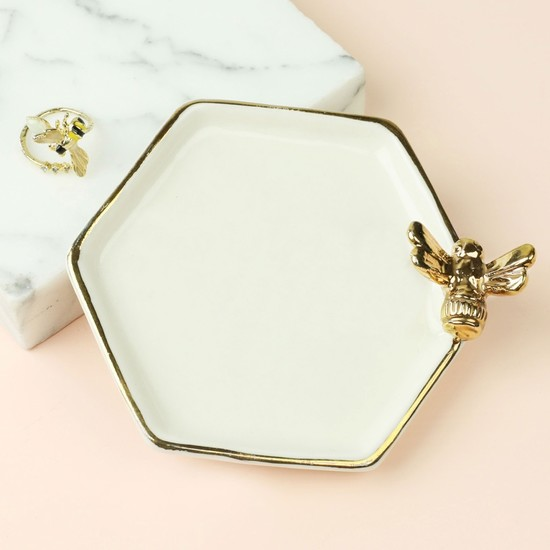 Hexagonal Bee Trinket Dish