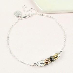 Silver Four Peas In a Pod Bracelet