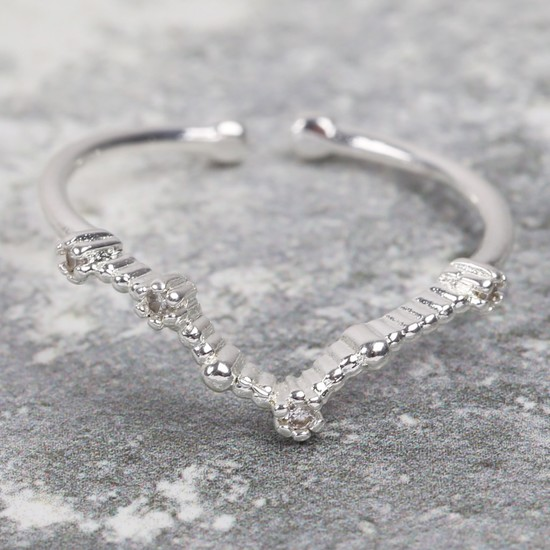 Adjustable Sterling Silver Constellation Ring - Pisces