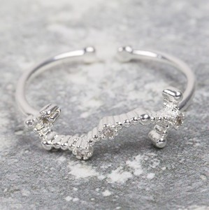 Adjustable Sterling Silver Constellation Ring - Scorpio