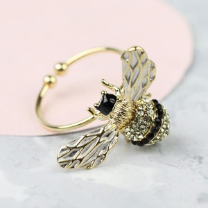 Adjustable Bumblebee Ring in Gold
