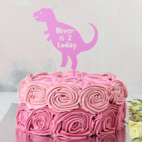 Personalised Dinosaur Acrylic Cake Topper