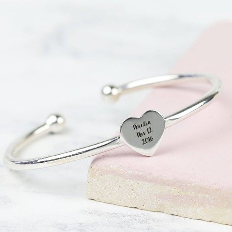 authentic bangles silver adjustable infinity lucky item bangle yfn love heart sterling bracelet new jewelry