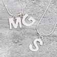Women's Sterling Silver Initial Charm Necklace