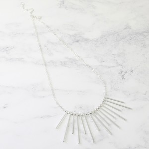 Bar Feature Necklace in Silver