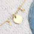 Ladies' Personalised Starry Nights Short Charm Necklace in Gold