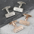 Personalised BarCufflinks