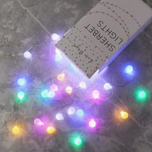 new style 9cf6d f7c2f Plug In LED Sherbet Multi-Coloured 7M String Lights