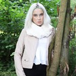 Lisa Angel Ladies' Ivory Faux Fur Twist Snood
