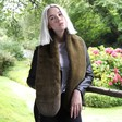 Lisa Angel Soft Warm Khaki Faux Fur Stole