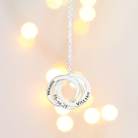lucky in silver sterling rings necklace