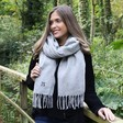 Personalised Grey Super Soft Lambswool Scarf
