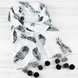 Ladies' Monochrome Pineapples Pom Pom Scarf