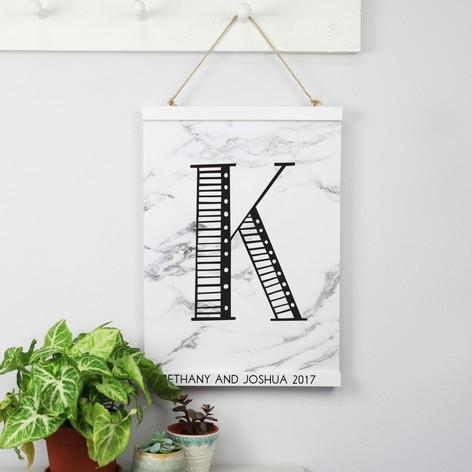 personalised sass belle magnetic hanging print frame lisa angel