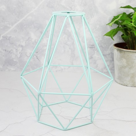 Geometric lamp shade in mint green lisa angel geometric lamp shade in mint green mozeypictures Choice Image