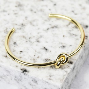 Open Knot Bangle in Gold