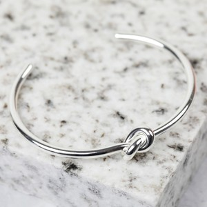 Open Knot Bangle in Silver