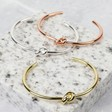 Lisa Angel Ladies' Delicate Open Knot Bangles