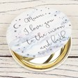 Ladies' Personalised Starry Nights 'Mum' Compact Mirror
