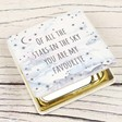 Ladies' Personalised Starry Nights 'Of All the Stars' Compact Mirror