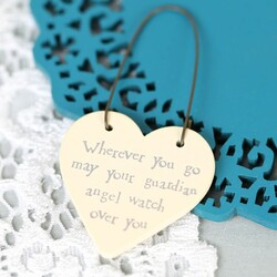 East of India 'Wherever You Go...' Tiny Little Heart Sign