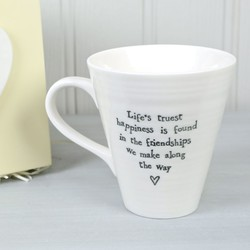 East of India Life's Truest Happiness Friendship Boxed Mug