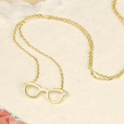 Matt Gold Glasses Necklace