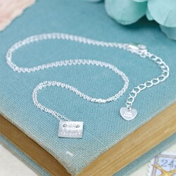 Personalised Name Plate Necklace in Silver