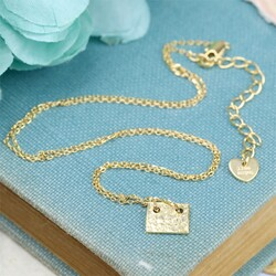 Personalised Name Plate Necklace in Gold