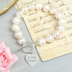Handmade Large Nugget Pearl 'Memories' Bracelet