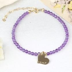 Personalised Delicate Amethyst Bracelet
