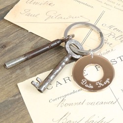 Personalised 'Dad's Keys' Keyring