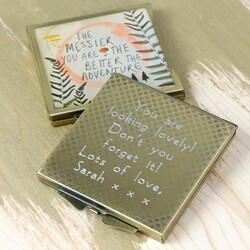 Personalised Disaster Designs 'Wander' Compact Mirror
