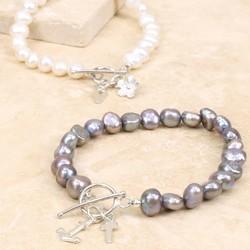 Personalised Nugget Pearl Bracelet