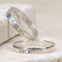 Engraved Sterling Silver Name Ring