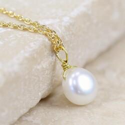 Estella Bartlett Dainty Pearl Necklace in Gold