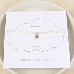 Estella Bartlett 'Lottie' Pearl Bracelet with Gold Star Charm