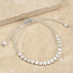 Estella Bartlett 'Stars So Bright' Silver Friendship Bracelet
