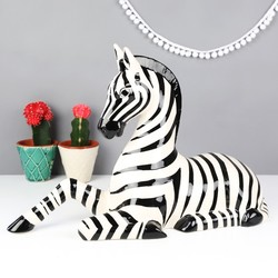 Ceramic Zebra Ornament