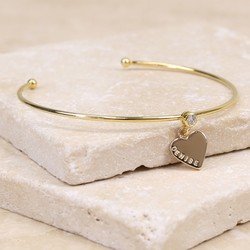 Personalised Gold Diamanté Bangle with Name