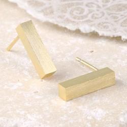 Gold Bar Stud Earrings