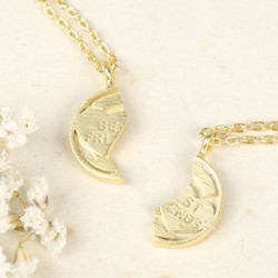 Best Friends Sweetheart Necklace Set in Gold