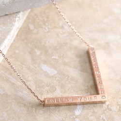 Personalised Rose Gold Chevron Name Necklace