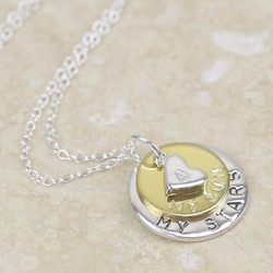 Handmade Dainty 'All About Me' Disc Necklace